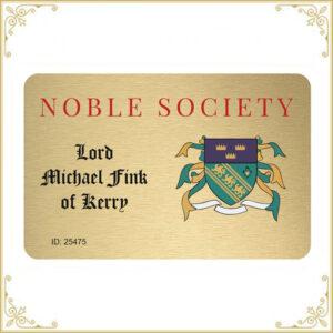 Acheter des titres de noblesse - identification par carte d'identité