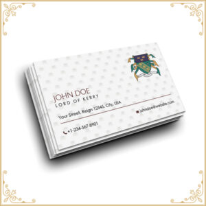 Aristocratic titles Business cards nobility